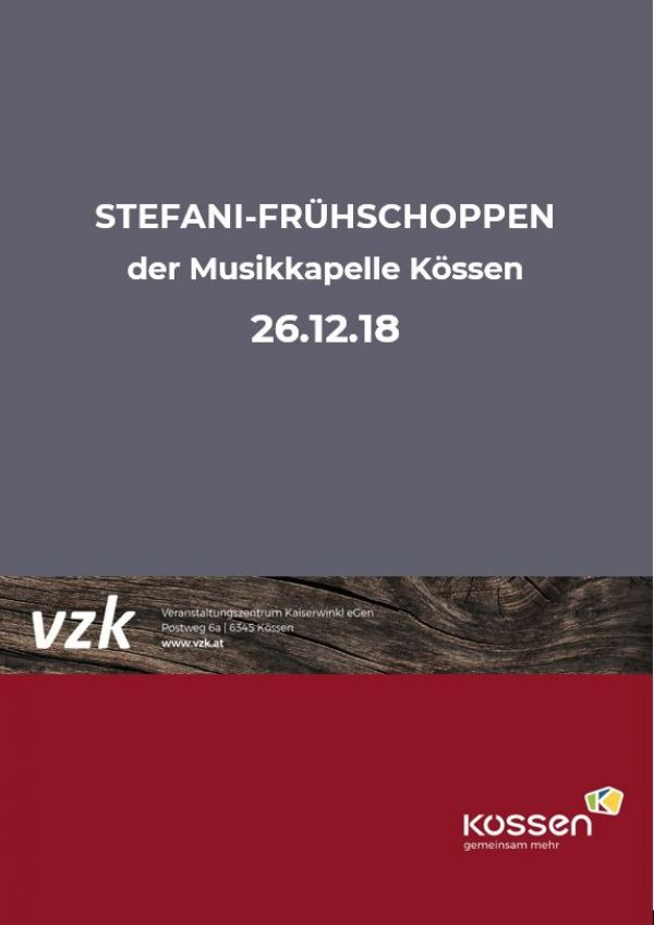 Stefani-Frühschoppen mit der Musikkapelle KÖSSEN