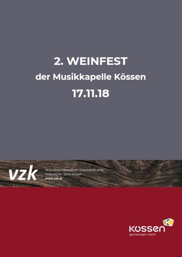 2. WEINFEST der Musikkapelle KÖSSEN