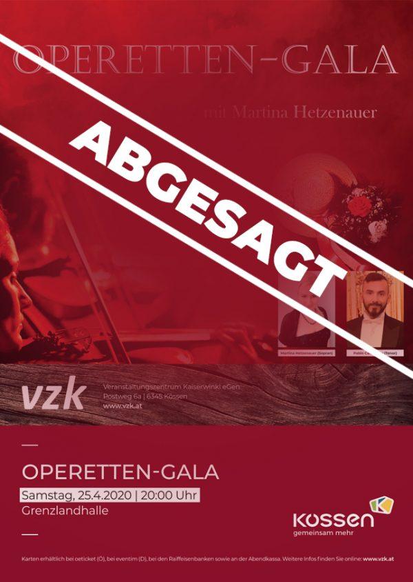 OPERETTEN-GALA – ABGESAGT!! VERSCHOBEN auf 27.02.2021