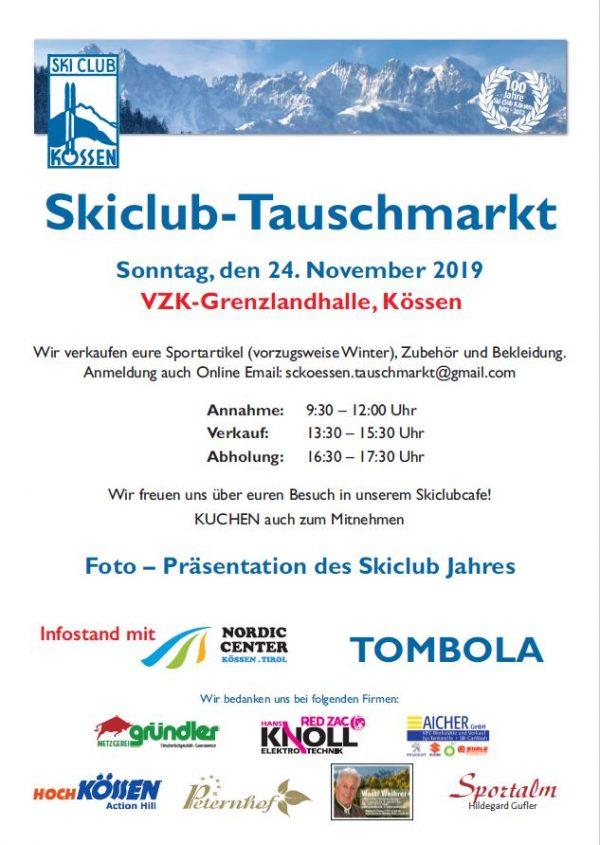 Tauschmarkt Skiclub Kössen 2019