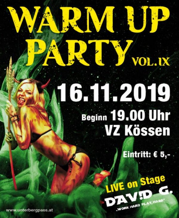 Warm Up Party vol. IX – Unterberg-Pass KÖSSEN